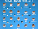 Thailand beach sand color