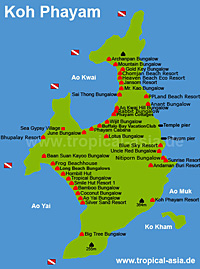 Koh Chang Island Map