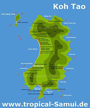 Thailand Inseln Karte.Insel Und Hotelkarten Reiseinformationen Zu Thailand S Inseln