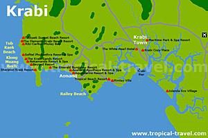 Thailand Inseln Karte.Krabi Thailand S Inseln Anreise Unterkünfte