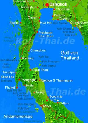 thailand karte mit inseln Thailand´s grosse und kleine Inseln   eine Übersicht  thailand karte mit inseln